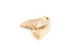 Taro frit par nourriture thaïlandaise sur le fond blanc Image stock