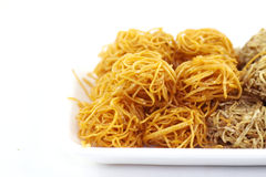 Taro Fritter sweet for between-meal edible Stock Photography