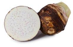 Taro isolato su fondo bianco Fotografia Stock Libera da Diritti