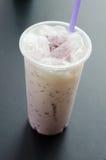 Taro Milk Bubble Tea Fotografía de archivo libre de regalías