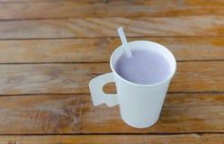 Taro milk, Hot cup menu Stock Images
