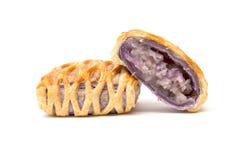Taro Pie isolou-se Imagem de Stock Royalty Free