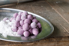 Taro rice ball Royalty Free Stock Image