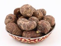 Taro root. Background of fresh taro root colocasia Stock Photo