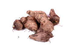 Taro root. Beautiful shot of taro roots on white background Stock Image