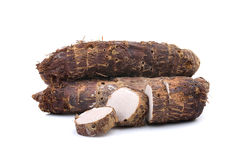 Taro root isolated on white background Royalty Free Stock Images