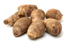 Taro root. Isolated on white background Stock Photo
