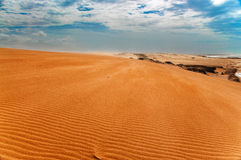 Taroa Sand Dune View. A view from the top of the Taroa Sand Dune in Guajira, Colombia Royalty Free Stock Images