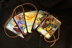 Tarockkarten, mystisch Stockbild