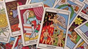 Tarokkort - det ockult - förutsägelse stock video