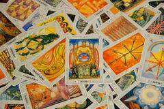 Tarokkort triumfvagnen Thoth däck royaltyfria bilder