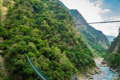 Taroko国立公园峡谷风景在花莲,台湾 库存图片