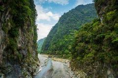 Taroko国立公园峡谷风景在花莲,台湾 免版税库存照片