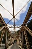 Taroko Gorge Bridge. A perspective angle shot of a bridge at Taroko Gorge at Taiwan Royalty Free Stock Image