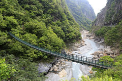 Taroko gorge bridge Stock Image