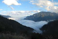 Taroko gorge clouds Royalty Free Stock Photo