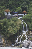 Taiwan Taroko Gorge,Eternal Spring Shrine. Eternal Spring Shrine, a famouse temple of Taroko Gorge, Taiwan Royalty Free Stock Images