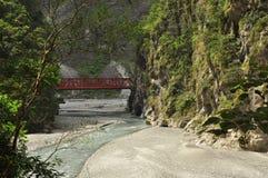 Taroko gorge, Taiwan. River and mountain sides Royalty Free Stock Image