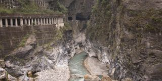 Taroko National park is one of the most visited of Taiwan`s national park stock photos
