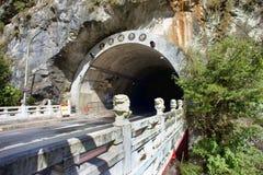 Taroko parka narodowego granitu tunel obraz royalty free