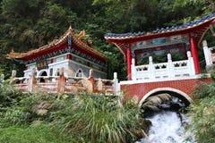 Taroko, Taiwan. Taroko National Park in Taiwan. Taroko Eternal Spring Changchun Shrine stock photos