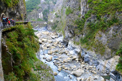 Taroko Walking track Royalty Free Stock Images
