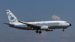 从TAROM的波音737-700 YR-BGG 免版税库存图片