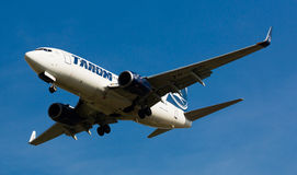 Tarom Airlines plane landing Royalty Free Stock Image