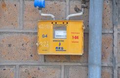 TARONIK, ΑΡΜΕΝΙΑ - 13 ΟΚΤΩΒΡΊΟΥ 2016: Μετρητής αερίου Στοκ Εικόνες
