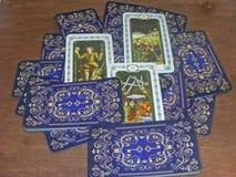 Tarot в средневековом винтажном стиле стоковые фото