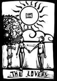 tarot любовников карточки Стоковое Изображение