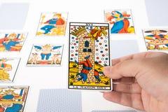 Tarot притяжки: Башня Стоковое Изображение