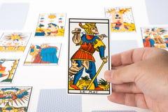 Tarot притяжки: Дурачок стоковое изображение rf