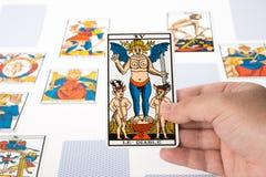 Tarot притяжки: Дьявол Стоковая Фотография