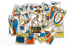 Tarot card death draw Royalty Free Stock Photos
