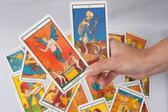 Tarot card of divination. Mystic and magic royalty free stock photography