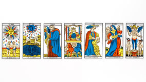 Tarot card draw Royalty Free Stock Photos