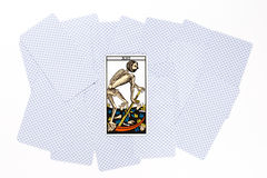 Tarot card fortune draw Royalty Free Stock Images