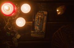 Tarot card. Future reading. Divination. stock image
