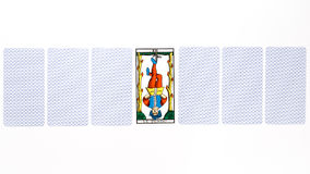 Tarot card hanged draw Royalty Free Stock Photos