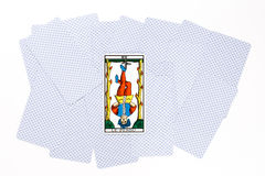Tarot card hanged draw Stock Photography