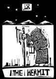 Tarot Card Hermit vector illustration