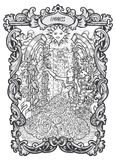 Empress. Major Arcana Tarot card Vector Illustration