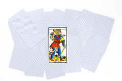 Tarot card matt draw. Isolated on white background Royalty Free Stock Images