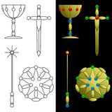 Tarot card symbols Royalty Free Stock Photo