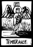 Tarot card for Temperance royalty free illustration