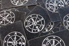 Tarot card texture wallpaper background Stock Photography