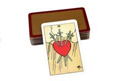 Tarot Cards. Tarot Card Representing Pangs of Love Royalty Free Stock Photography