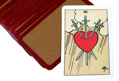 Tarot Cards. Tarot Card Representing Pangs of Love royalty free stock photos
