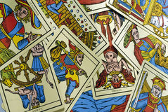Tarot cards. Scattered on a bulk Stock Photography